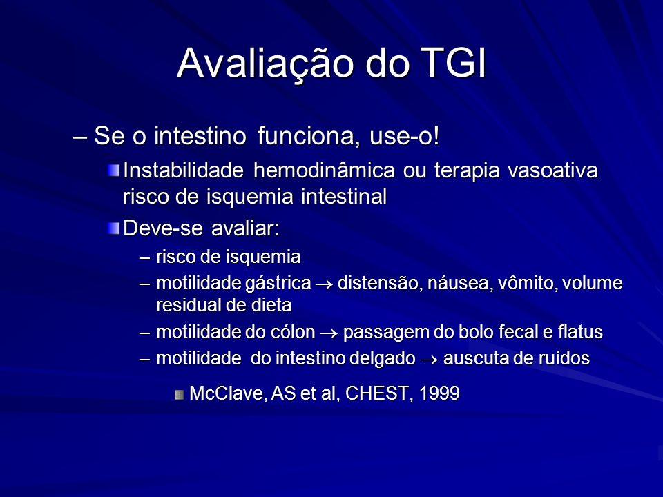Avaliação do TGI Se o intestino funciona, use-o!
