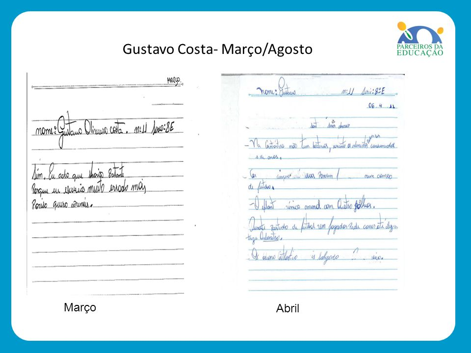 Gustavo Costa- Março/Agosto