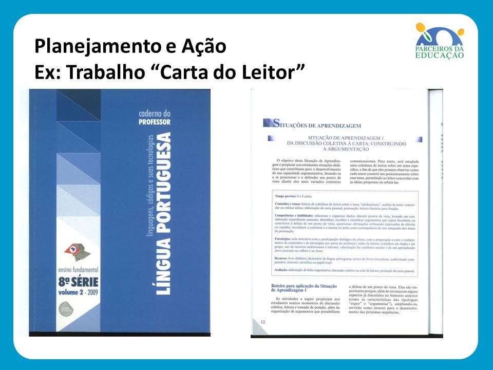 Planejamento e Ação Ex: Trabalho Carta do Leitor