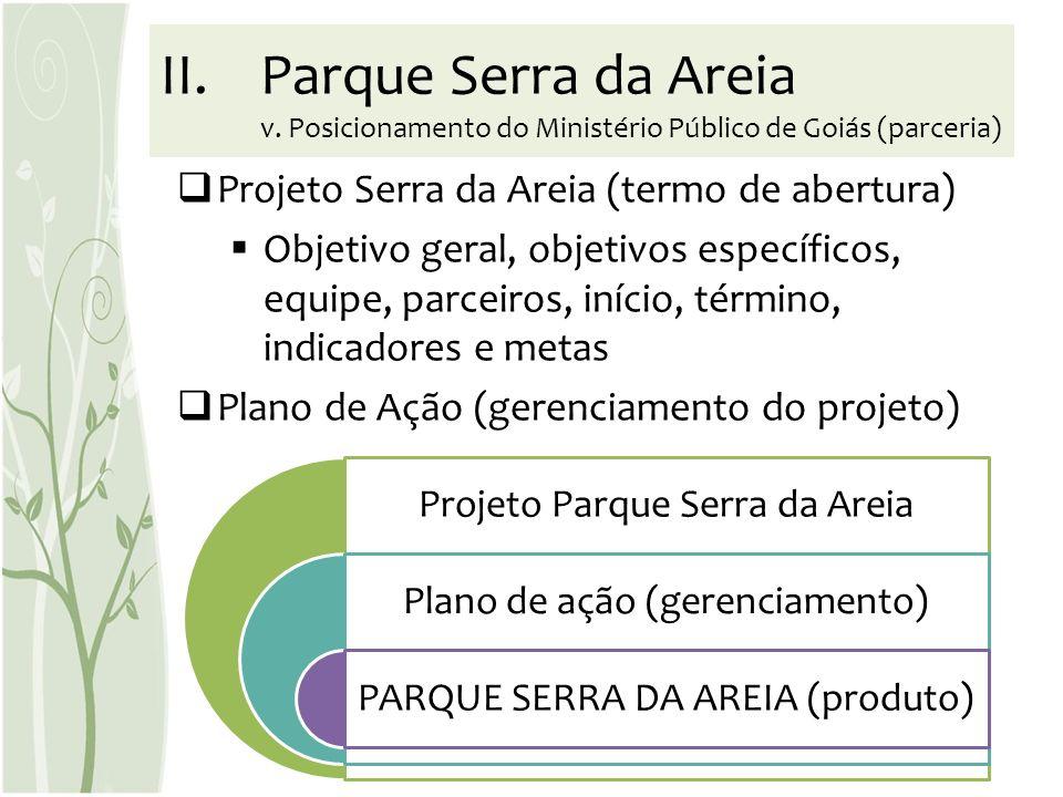 Parque Serra da Areia v. Posicionamento do Ministério Público de Goiás (parceria)