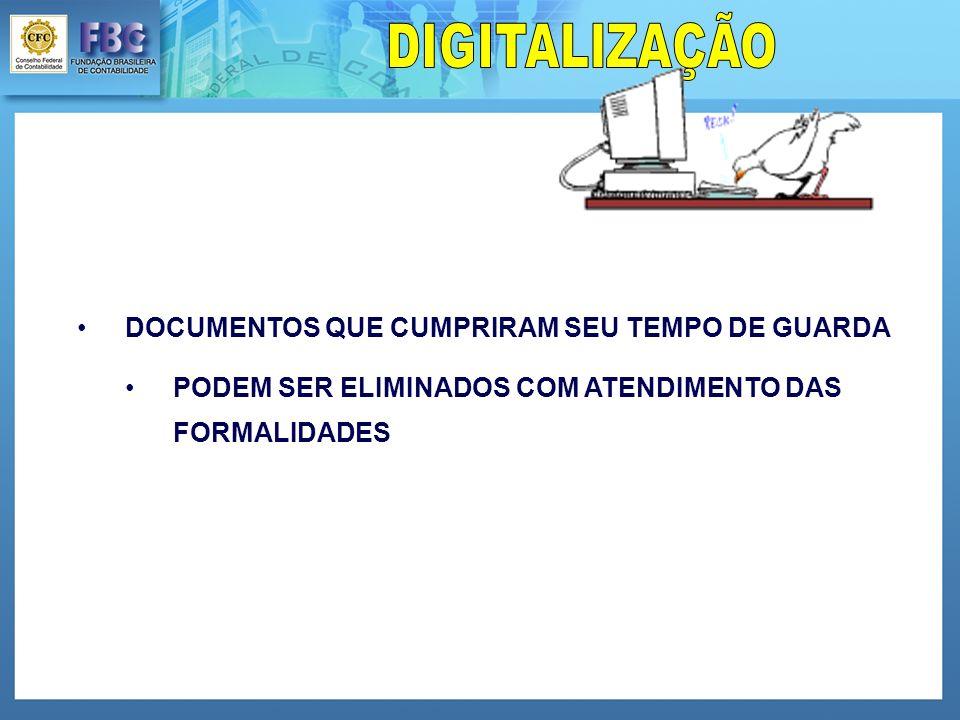 DIGITALIZAÇÃO DOCUMENTOS QUE CUMPRIRAM SEU TEMPO DE GUARDA.