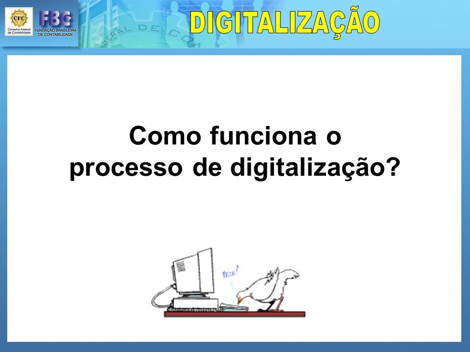 Como funciona o processo de digitalização