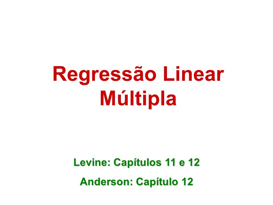 Regressão Linear Múltipla