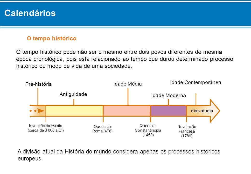 Calendários O tempo histórico