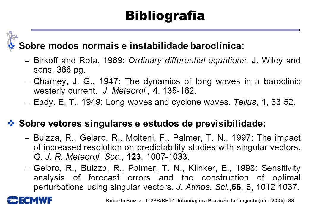 Bibliografia Sobre modos normais e instabilidade baroclínica:
