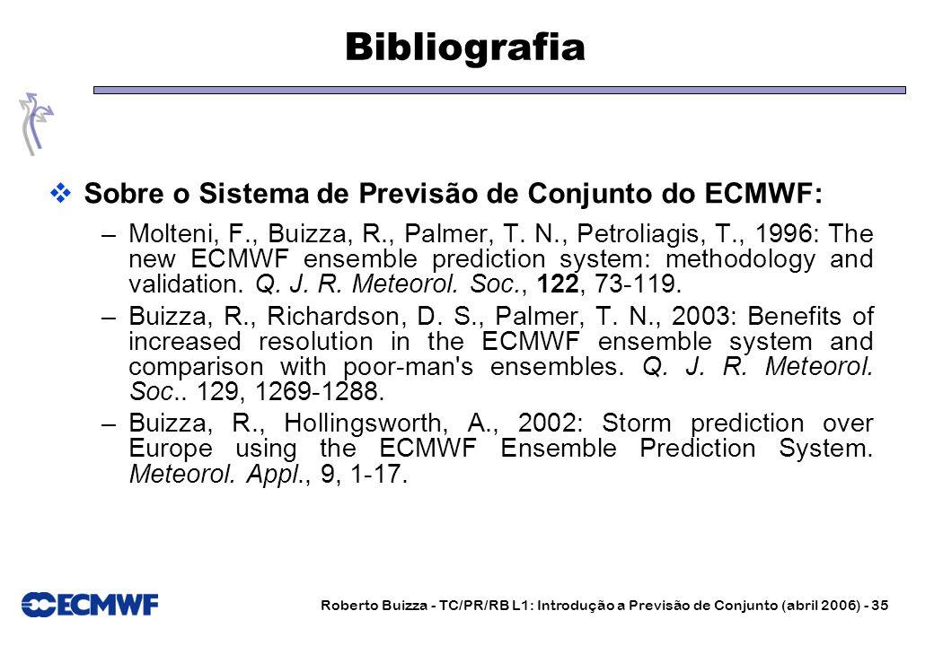 Bibliografia Sobre o Sistema de Previsão de Conjunto do ECMWF: