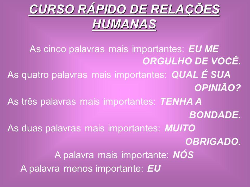 CURSO RÁPIDO DE RELAÇÕES HUMANAS