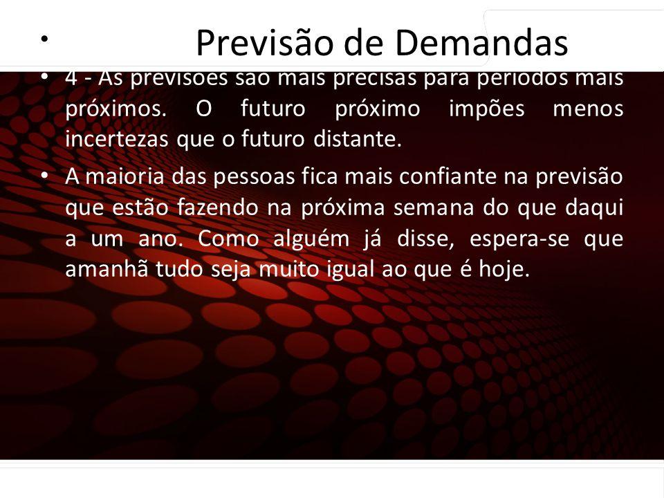 Previsão de Demandas Princípios de previsão…