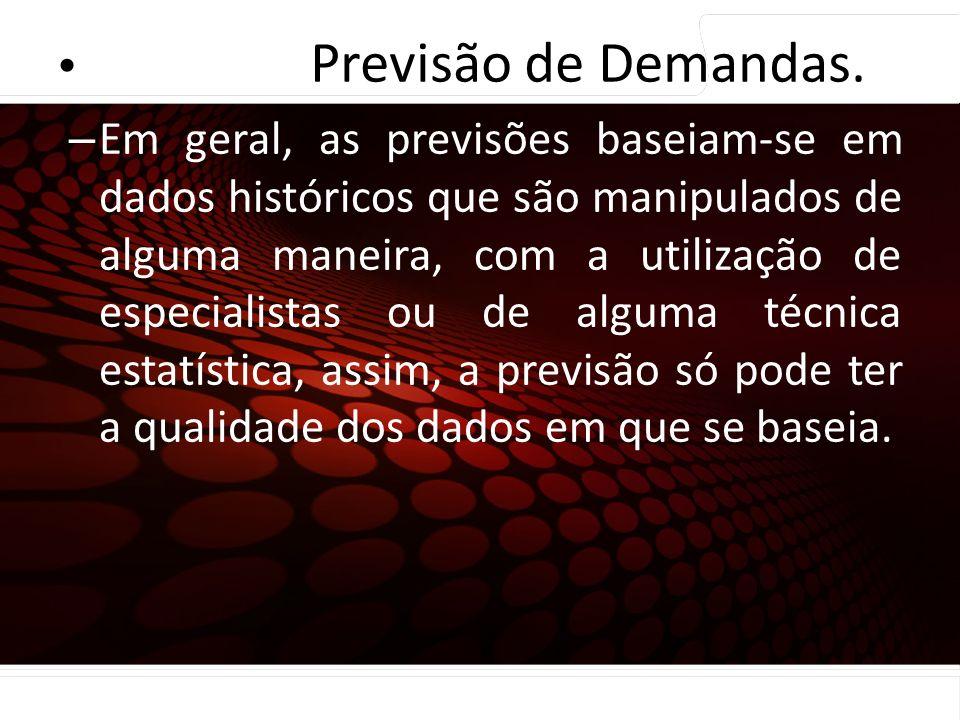 Previsão de Demandas. Coleta e preparação dos dados