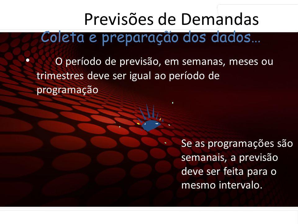 Previsões de Demandas Coleta e preparação dos dados…