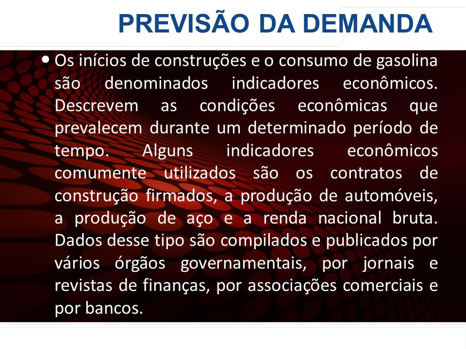 PREVISÃO DA DEMANDA