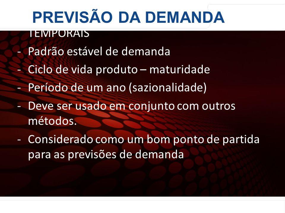 PREVISÃO DA DEMANDA MODELOS DE DECOMPOSIÇÃO DE SÉRIES TEMPORAIS