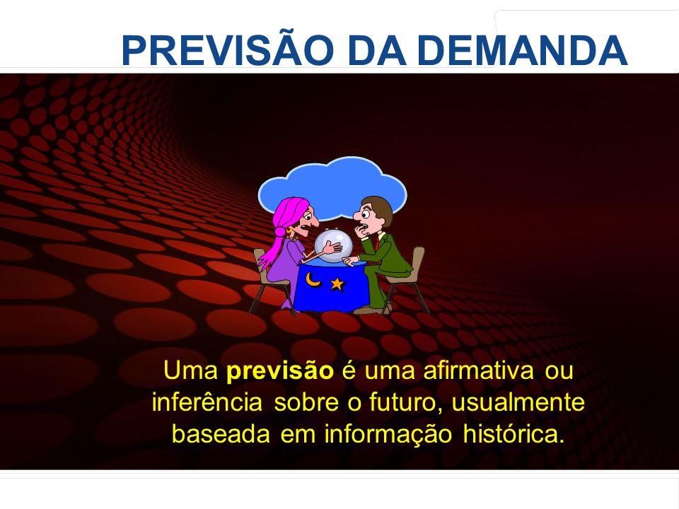 PREVISÃO DA DEMANDA Uma previsão é uma afirmativa ou inferência sobre o futuro, usualmente baseada em informação histórica.