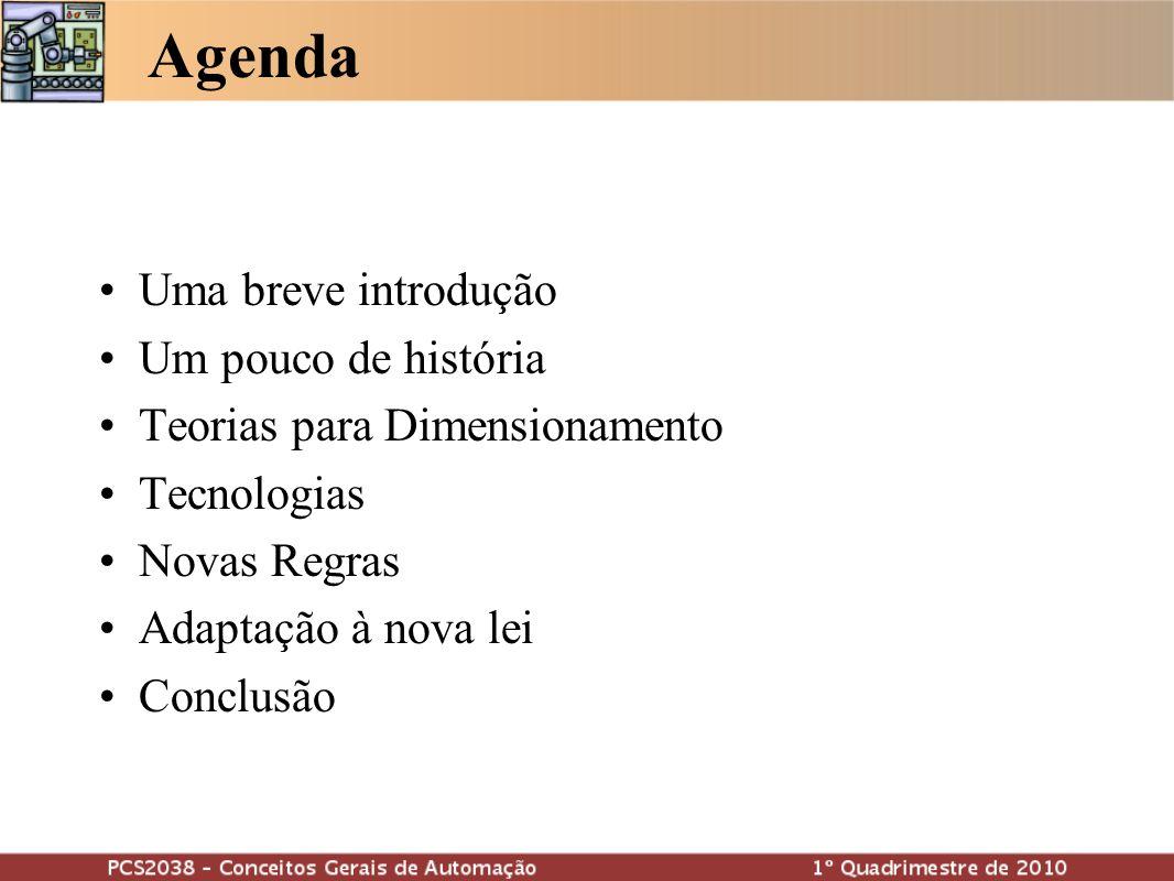 Agenda Uma breve introdução Um pouco de história