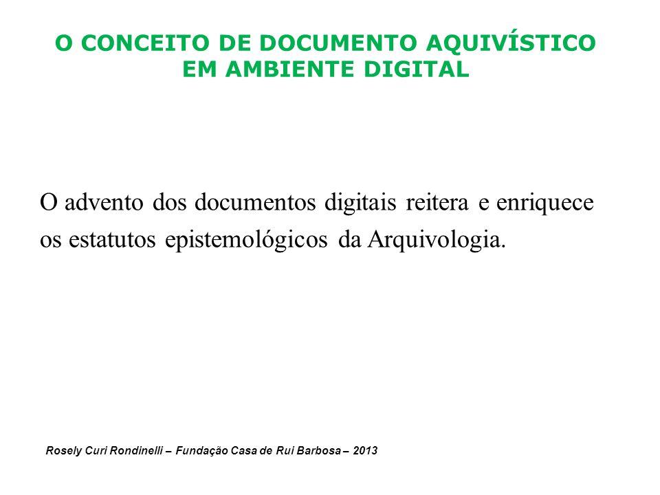O CONCEITO DE DOCUMENTO AQUIVÍSTICO EM AMBIENTE DIGITAL