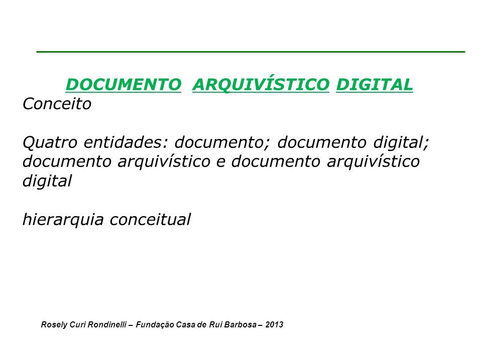 DOCUMENTO ARQUIVÍSTICO DIGITAL