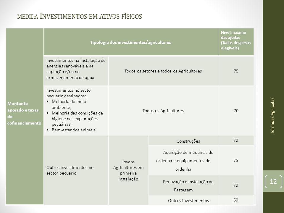 medida Investimentos em ativos físicos