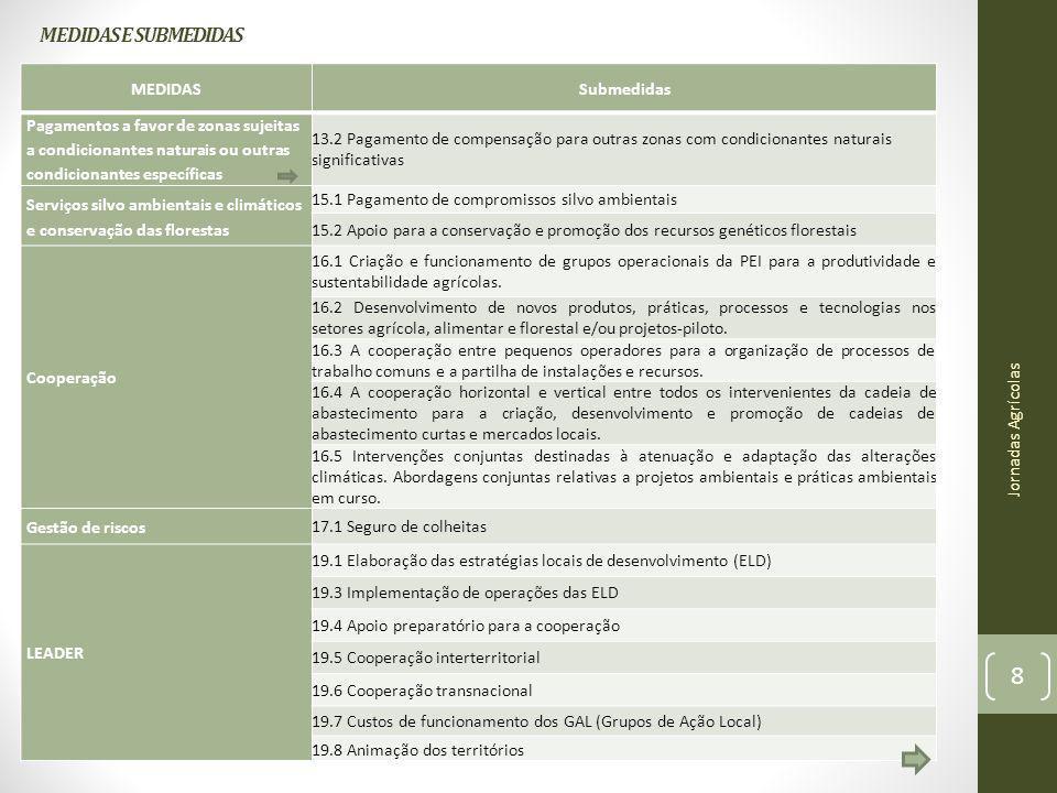 MEDIDAS E SUBMEDIDAS MEDIDAS Submedidas