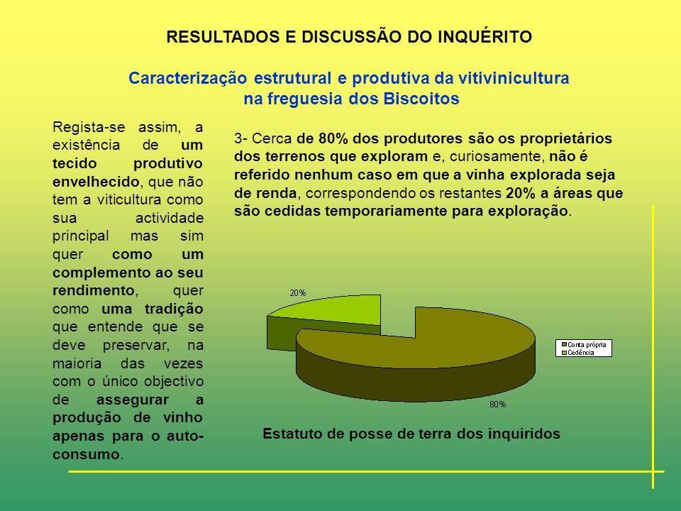 RESULTADOS E DISCUSSÃO DO INQUÉRITO