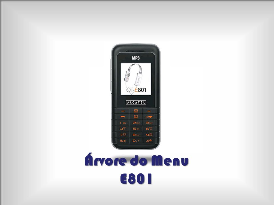 Árvore do Menu E801
