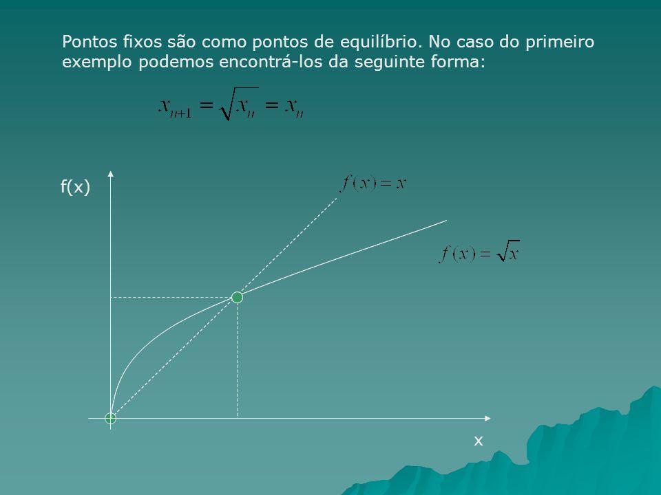 Pontos fixos são como pontos de equilíbrio. No caso do primeiro