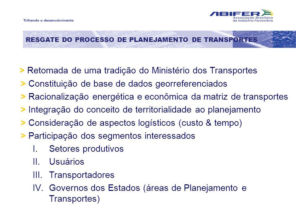 > Retomada de uma tradição do Ministério dos Transportes