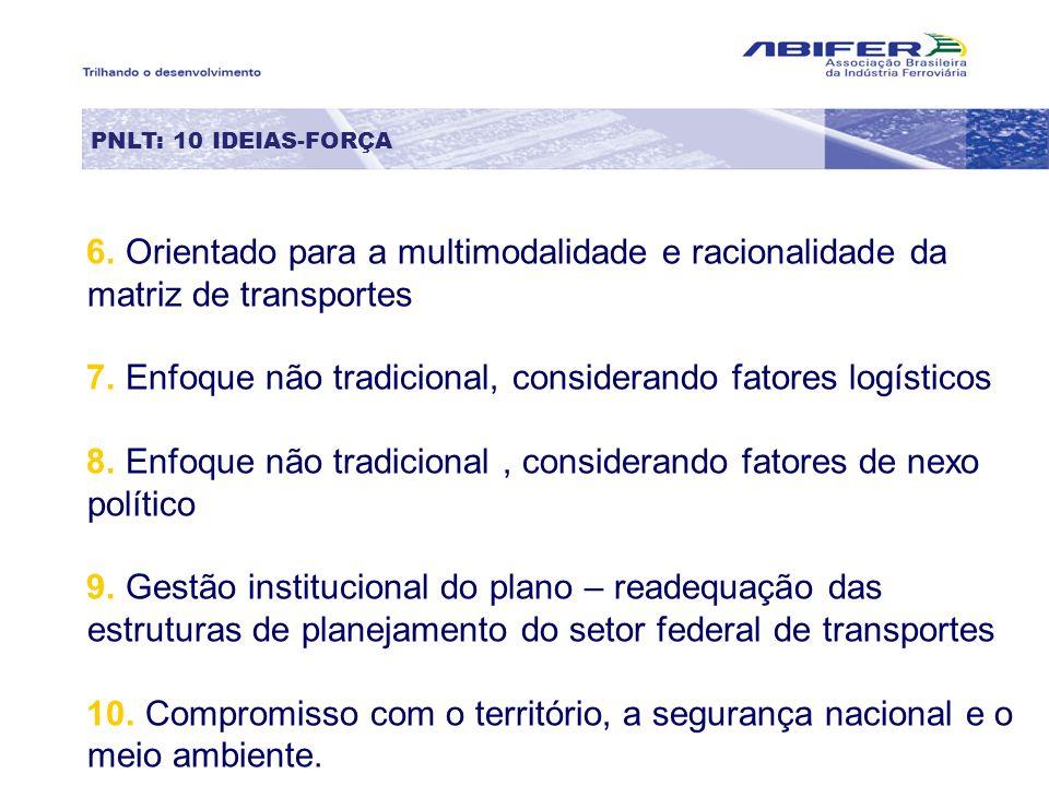 7. Enfoque não tradicional, considerando fatores logísticos