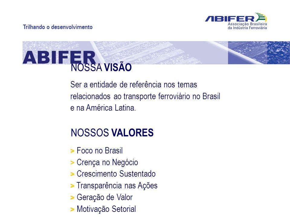 ABIFER NOSSA VISÃO NOSSOS VALORES