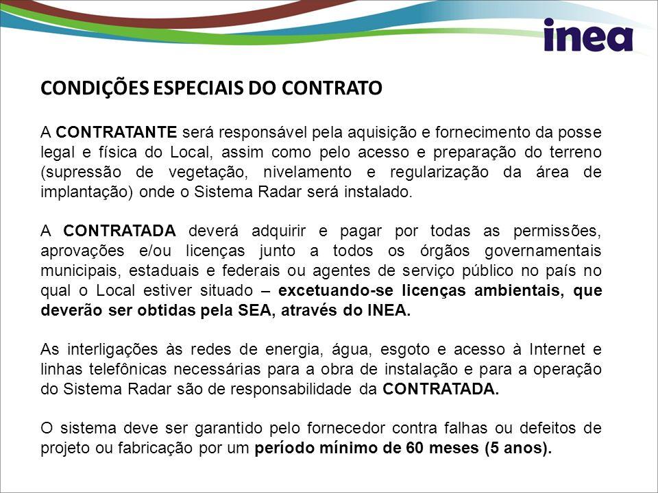 CONDIÇÕES ESPECIAIS DO CONTRATO