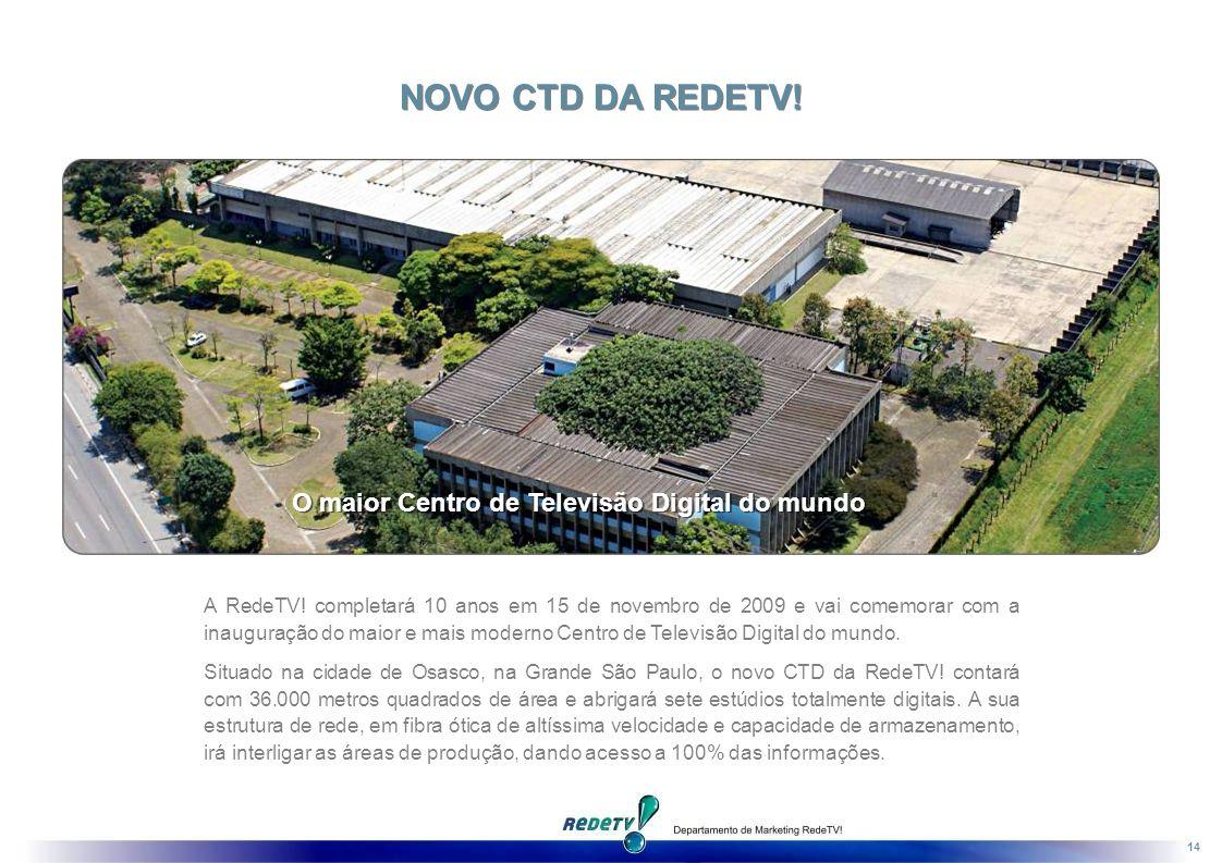 NOVO CTD DA REDETV! O maior Centro de Televisão Digital do mundo