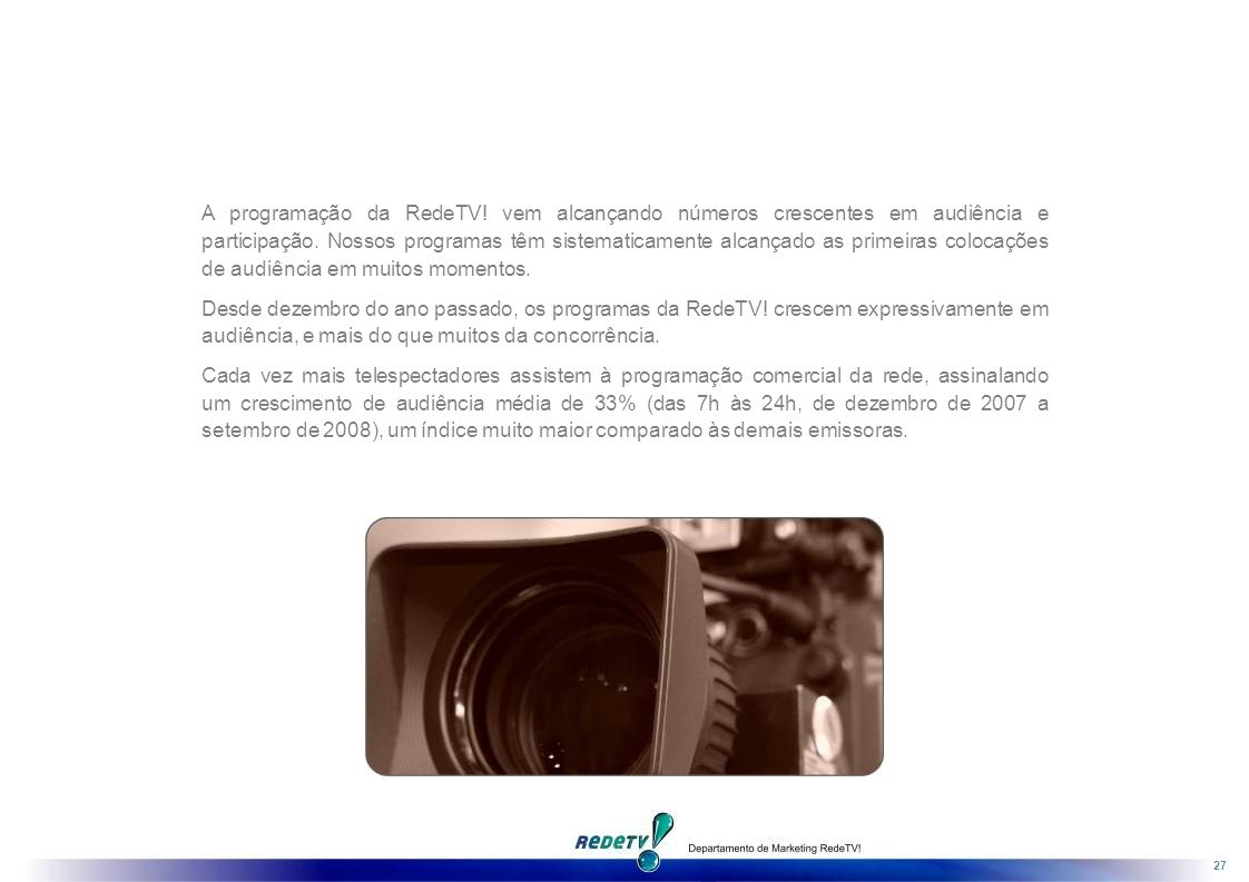 A programação da RedeTV