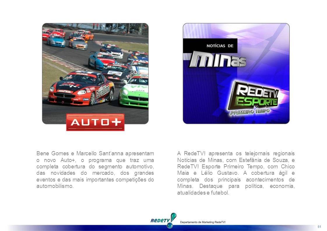 Bene Gomes e Marcello Sant'anna apresentam o novo Auto+, o programa que traz uma completa cobertura do segmento automotivo, das novidades do mercado, dos grandes eventos e das mais importantes competições do automobilismo.