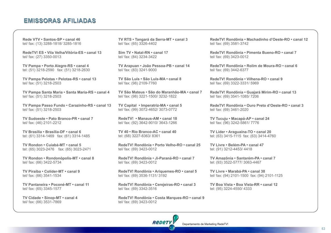 EMISSORAS AFILIADAS
