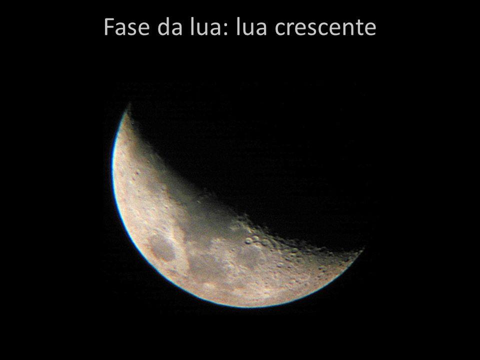Fase da lua: lua crescente