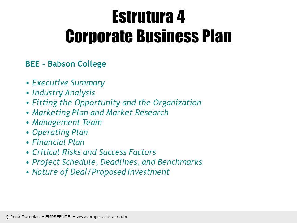Estrutura 4 Corporate Business Plan
