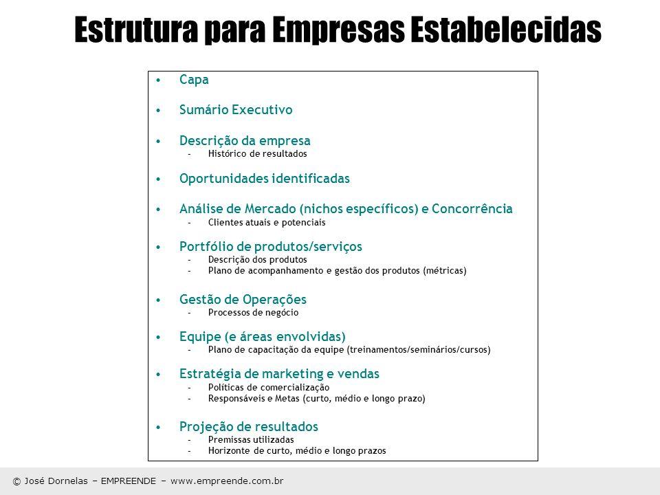 Estrutura para Empresas Estabelecidas