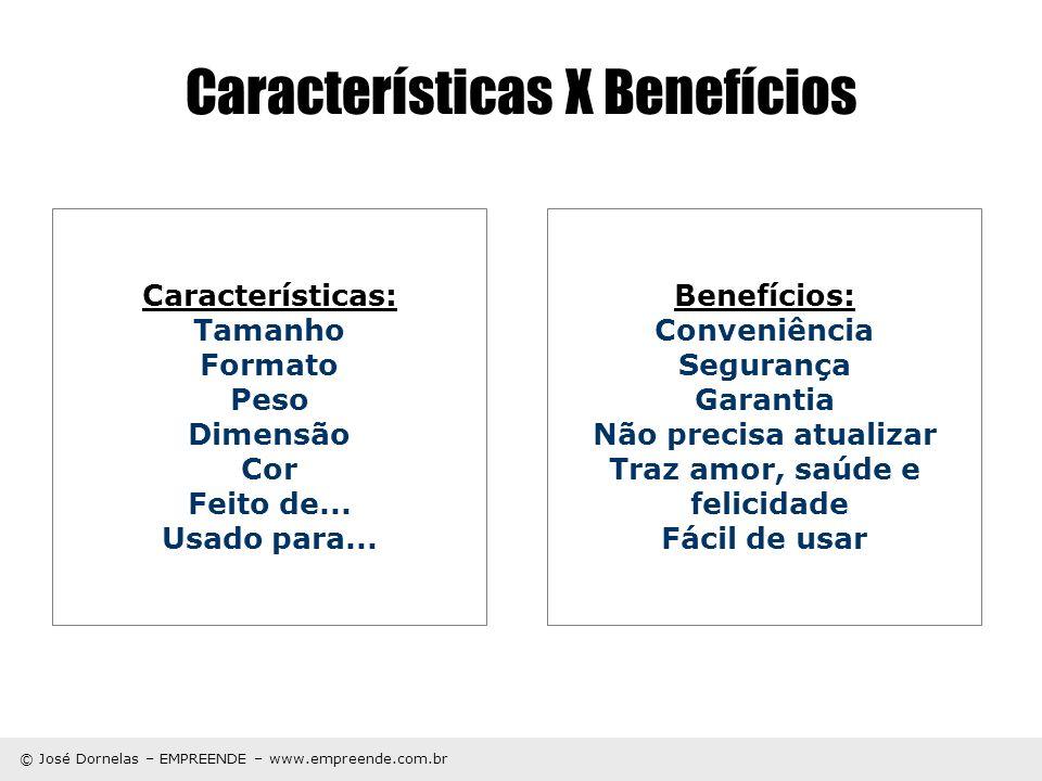 Características X Benefícios