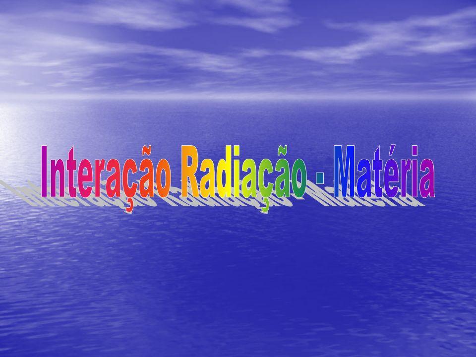 Interação Radiação - Matéria