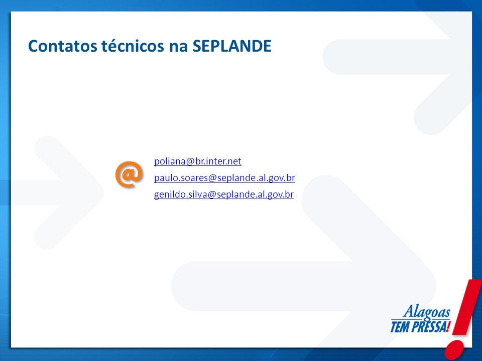 Contatos técnicos na SEPLANDE
