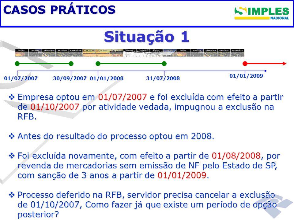 Situação 1 Fundamentação legal CASOS PRÁTICOS
