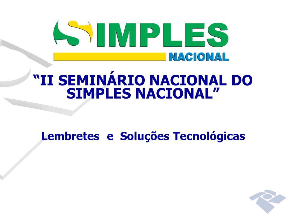 II SEMINÁRIO NACIONAL DO SIMPLES NACIONAL