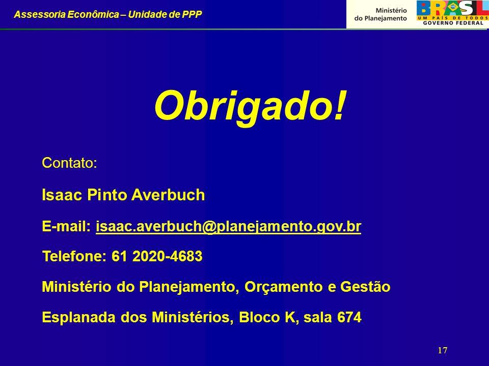 Obrigado! Isaac Pinto Averbuch Contato: