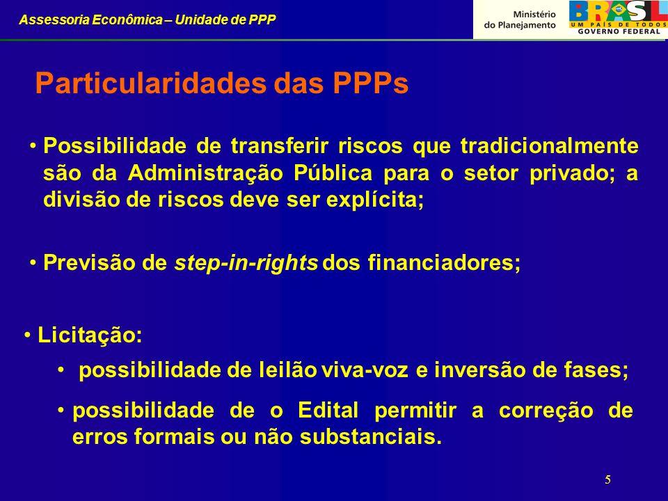 Particularidades das PPPs