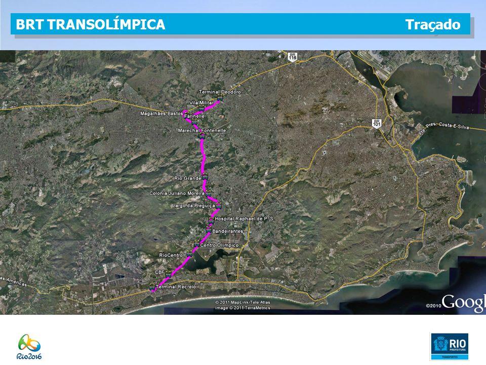 BRT TRANSOLÍMPICA Traçado