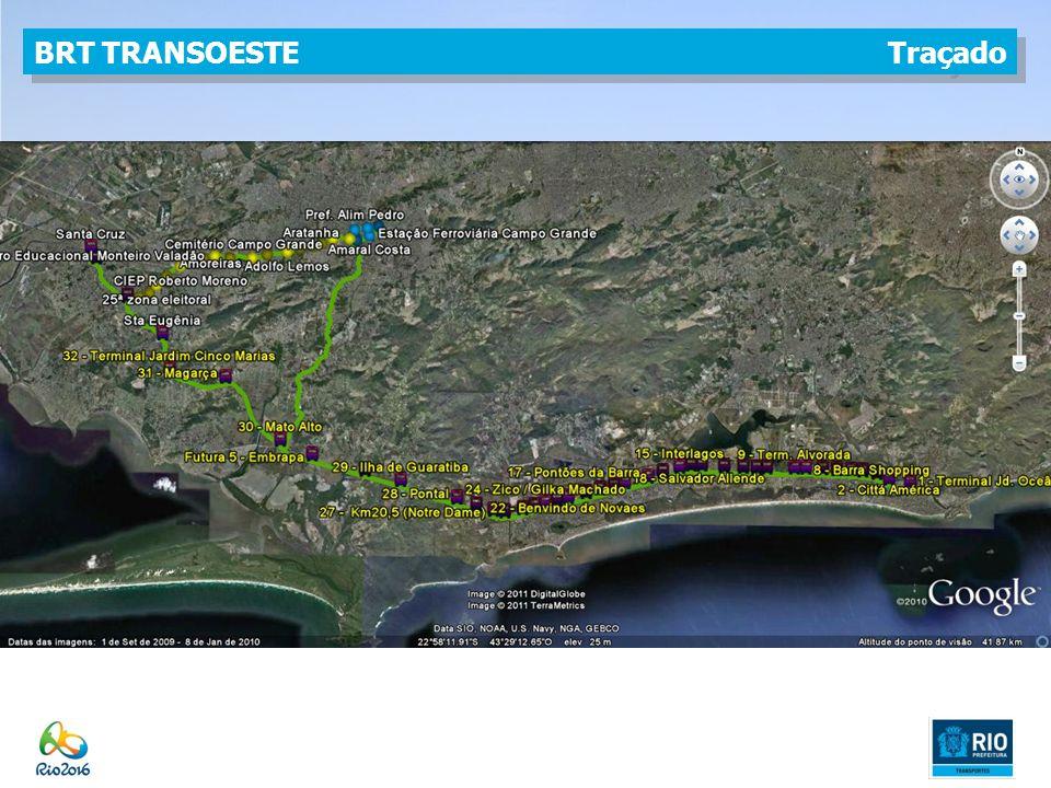 BRT TRANSOESTE Traçado