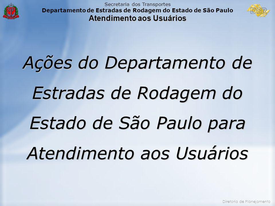 Ações do Departamento de Estradas de Rodagem do Estado de São Paulo para Atendimento aos Usuários