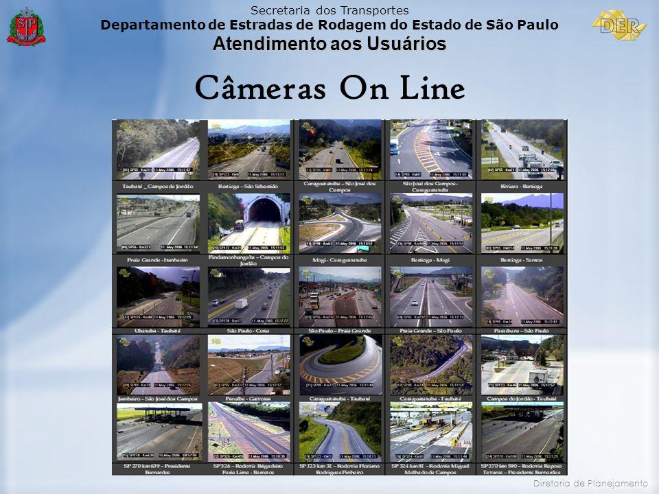 Câmeras On Line Investimentos em Monitoração Rodoviária no ano de 2006