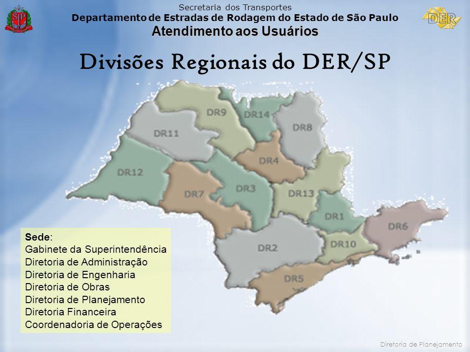 Divisões Regionais do DER/SP