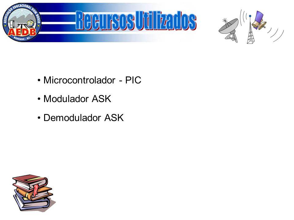 Recursos Utilizados Microcontrolador - PIC Modulador ASK