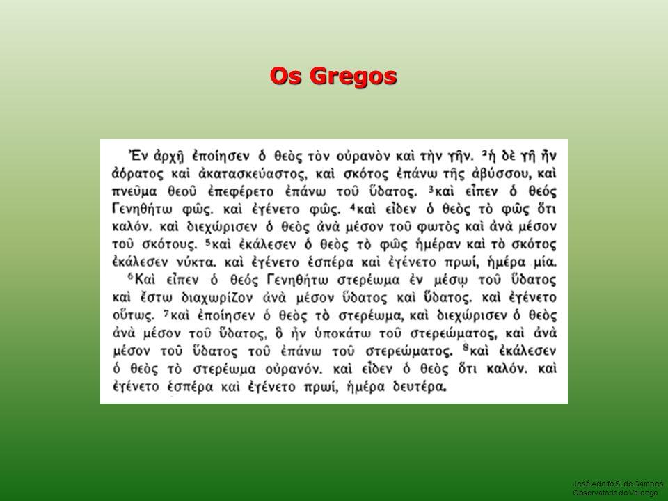 Os Gregos José Adolfo S. de Campos Observatório do Valongo